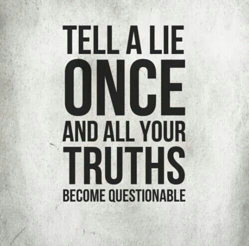 Isn't that the truth. If I ask the question I already know the answer so it's better to not lie about it.