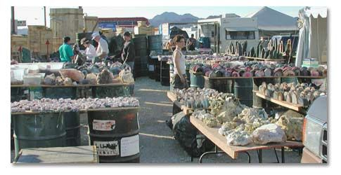 January and February, 2,000 vendors of rocks, gems, minerals, fossils and everything else imaginable create one of the world's largest open air flea markets in Quartzsite, AZ......