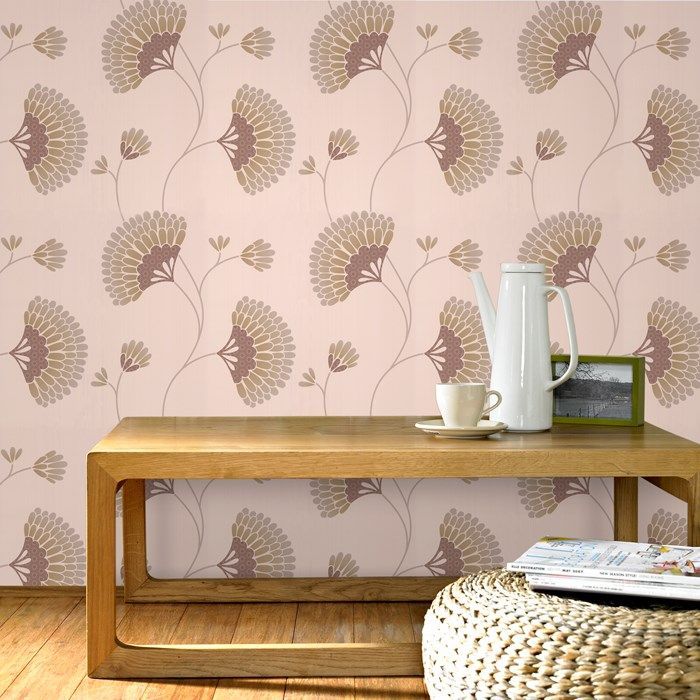 Charm Floral Wallpaper - Beige Flower Wall Coverings by Graham  Brown