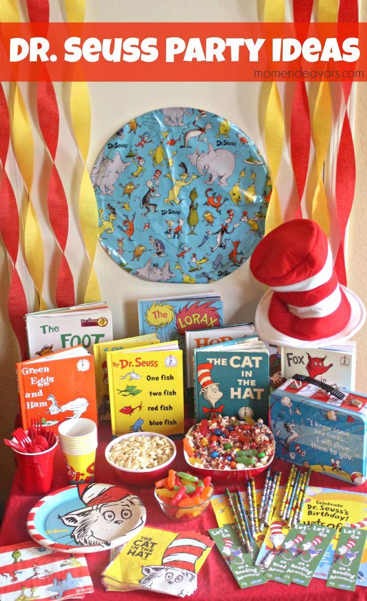 Fun ideas for a Dr. Seuss party or playdate via momendeavors.com! #drseuss