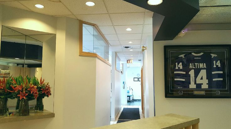 Our new, more inviting-than-ever front reception desk :)