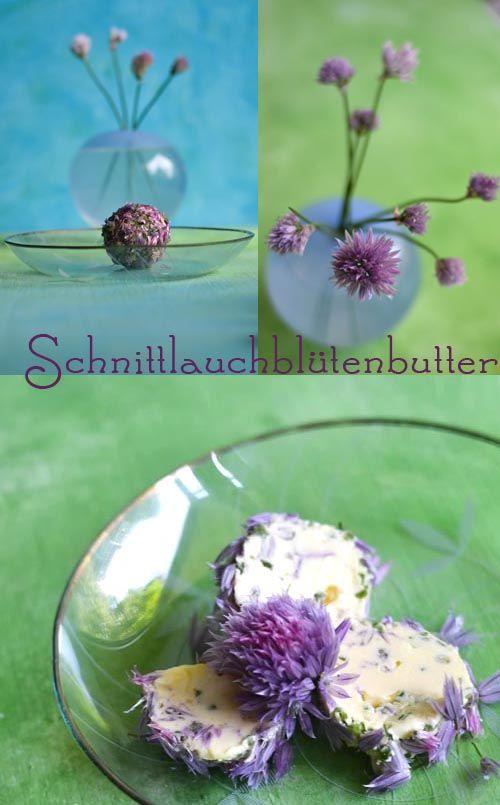Schnittlauchblüten-Butter