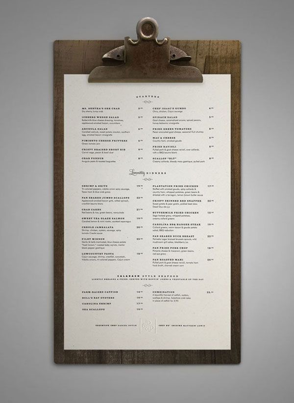 45 Remarkable Food & Drink Menu Designs | Bashooka | Cool Graphic & Web Design Blog