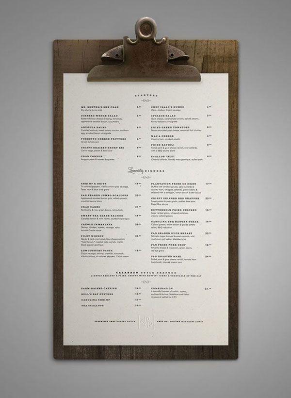 45 Remarkable Food & Drink Menu Designs   Bashooka   Cool Graphic & Web Design Blog