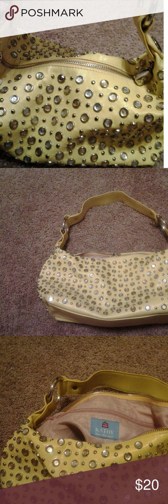 Kathy Van Zealand Yellow studded purse Kathy Van Zealand Yellow studded purse Bags Shoulder Bags