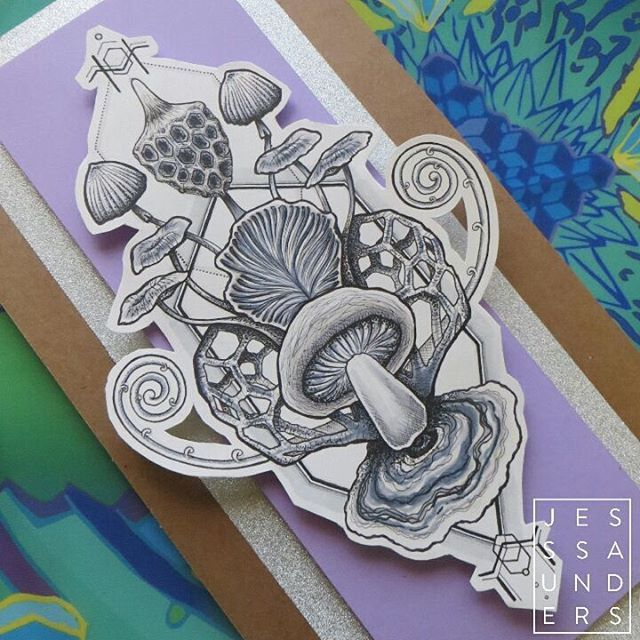 Got really sidetracked by beautiful mushrooms on Google images this is the result. For sale @sayagatatattoo would also love to tattoo #mushroom #fungus