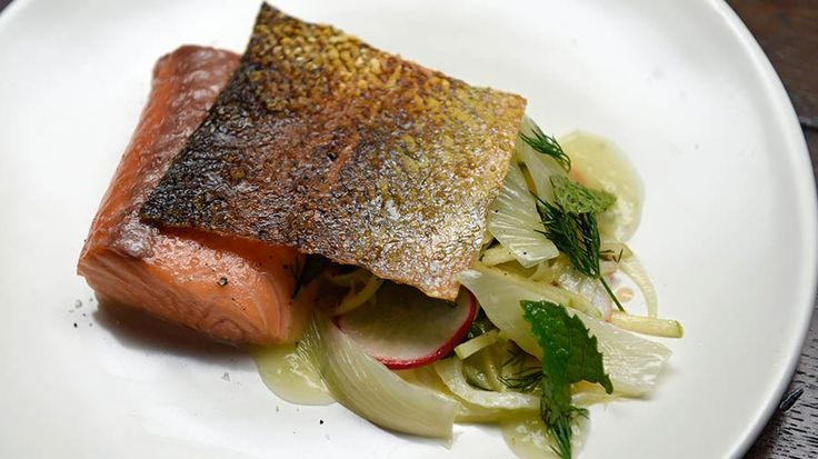 Confit Salmon with Crispy Skin