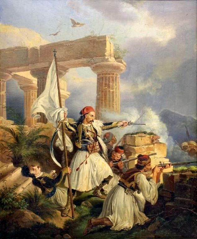 Ο Γεώργιος Καραισκάκης στην μάχη, 1829