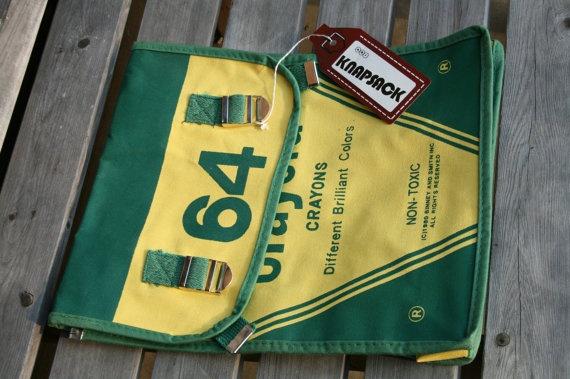 wow so unusual 1980 Crayoloa Knapsack vintage never used so groovy great purse handbag