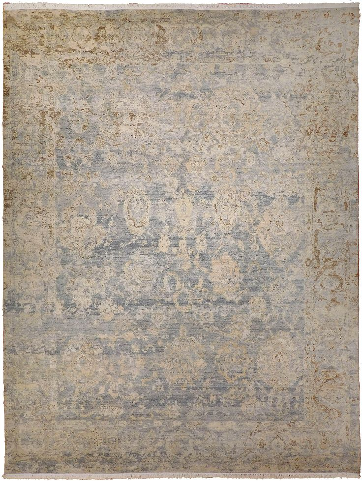 Transitional Hand-Knotted Luxury Rug - 9′ × 12′ on Chairish.com