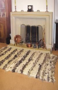 Rug: Used as a hearth rug. I've already asked Andy to make me a peg loom.