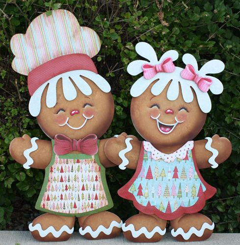 gingerbread couple - soooo cute!..I think these are my fave gingers I've ever seen...so adorable and different