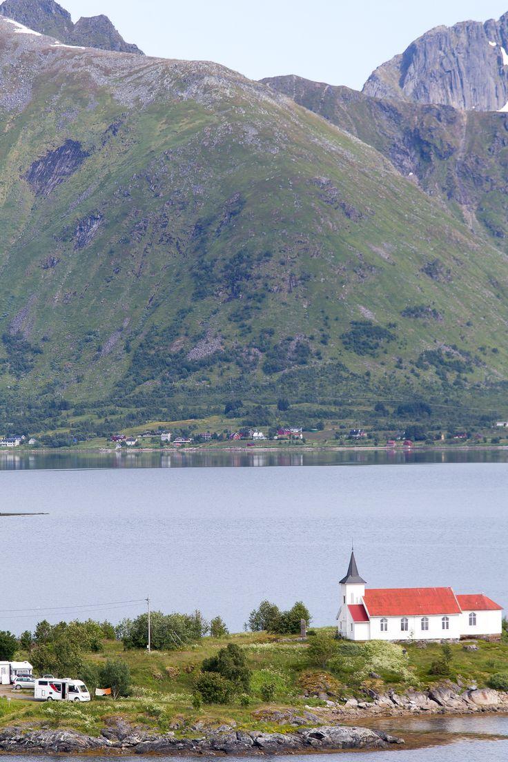 Wat een plek om je camper te parkeren... Noorwegen | Lofoten.