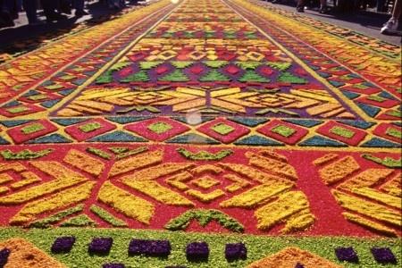 Tradici n de alfombras de semana santa en el salvador for El paraiso de las alfombras