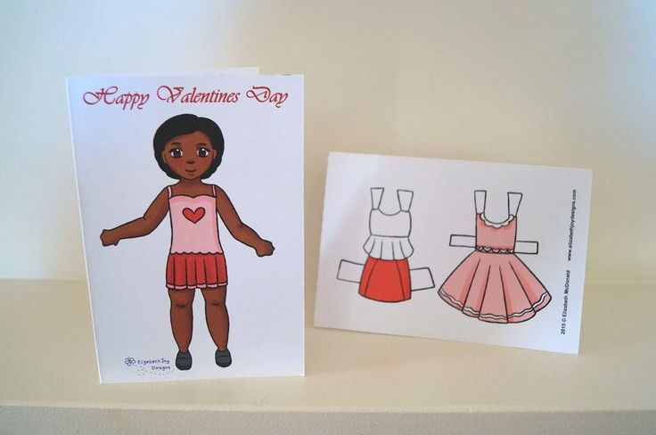 (8) Name: 'Paper Crafts : Valentine's Paper Doll Card
