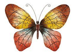I absolutely love metal butterfly wall art. It is great for gardens, patios and even  indoors in bathrooms, kitchens and hallways.  Additionally, you can use butterfly home wall art décor in your  bedroom. Overall this is beautiful,  color and ever so cute #butterflies #wallart #homedecor      Deco 79 Wall Metal Butterfly for Wall Decor