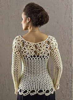 Moldes y patrones de blusa ganchillo de dama