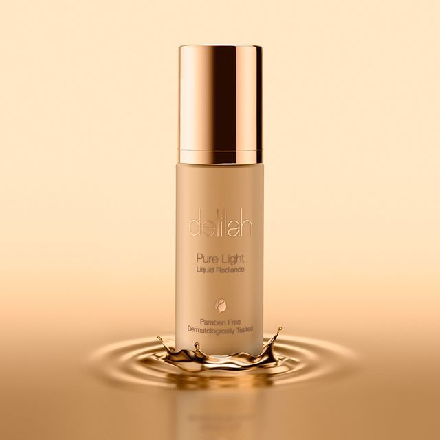 Delilah Cosmetics Pure Light Liquid Radiance, as shot by Lux.    Shoot with Lux! +44 207 790 5533  info@luxphotodigital.co.uk  luxstudio.london    #gold #golden #makeup #metallic #liquid #foundation #makup #cosmetics #delilah #stilllife #photography #londonphotographer #productphotography #luxury #studiolighting #productphoto #advertising #advert #beauty #makeup #foundation #beautyblogger #instabeauty