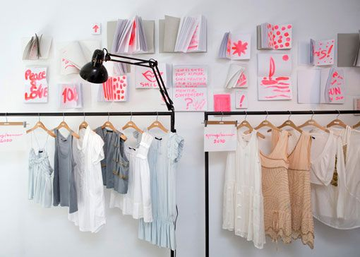 I really like the neon writing - especially next to the very pastelly-neutrally clothes... could be cool for my new house!