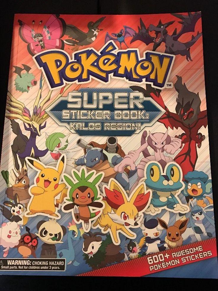Pokemon Super Sticker Book: Kalos Region #ThePokemonCompany