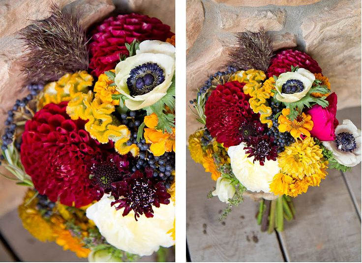 One of the best bridesmaid bouquets I have ever seen. What a gorgeous color combination!