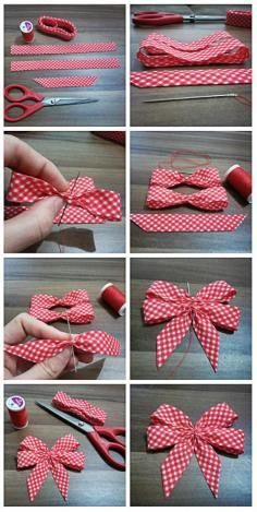 DIY Tutorial DIY Ribbon Bow / DIY Double Ribbon Bow with a Fork - Bead&Cord