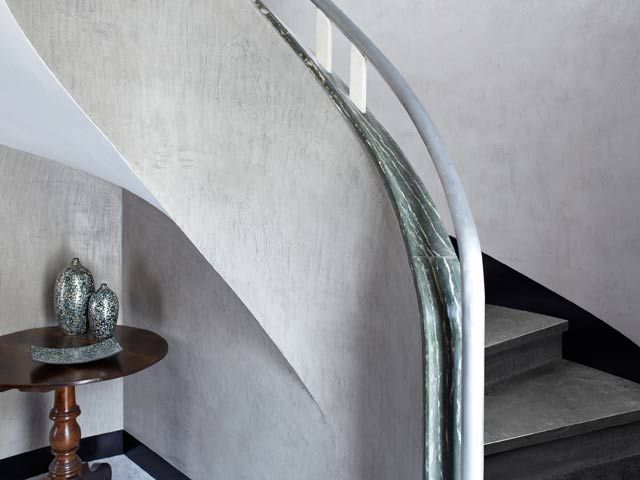 grey #concrete #microtopping staircase http://www.idealwork.com/Micro-Topping-Features-and-benefits.html