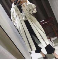2016 Благородный мода популярная мода норки пальто, Натуральная Кожа, Мандарин Воротник, Теплый белый норковая шуба молодые женщины норковую шубу