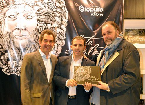 Presentación del Libro Arte en Plata en la Feria del Libro 2013 - Arnaldo Gometz (Bodega Catena Zapata), Marcelo Toledo y Pietro Sorba (Consultor gastronómico).
