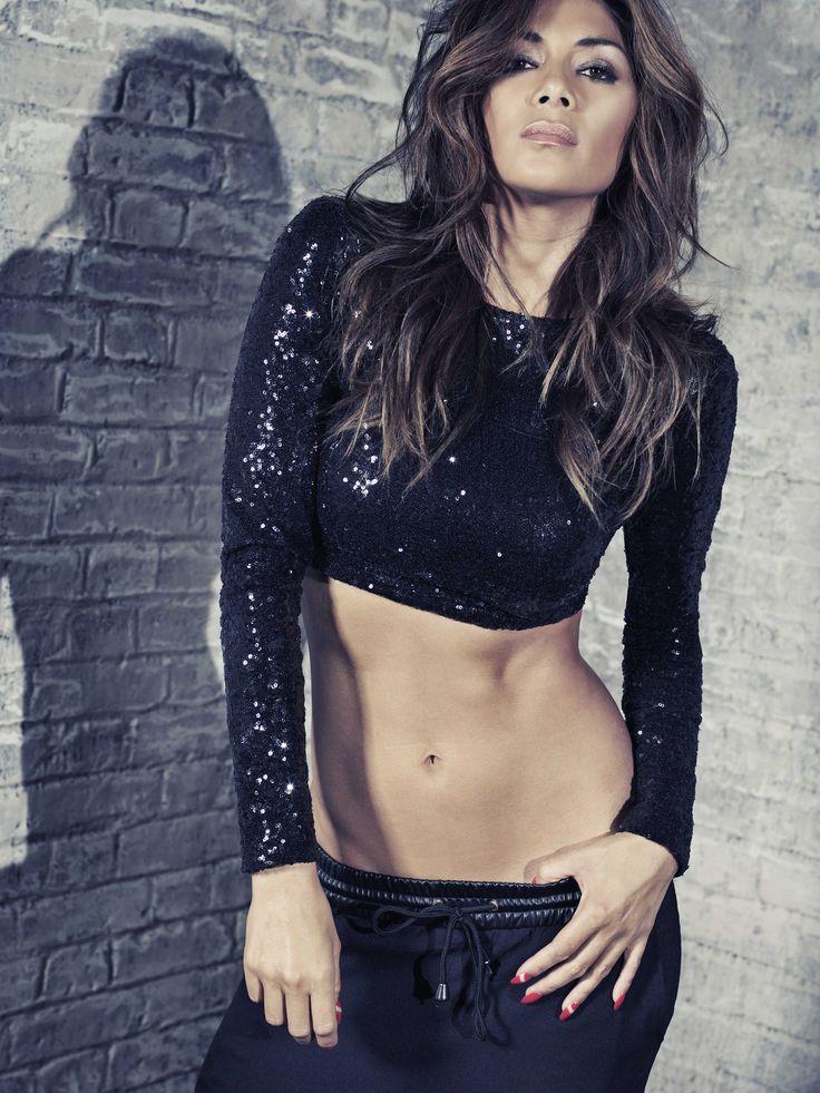 Nicole X Missguided Black Sequin Crop Top