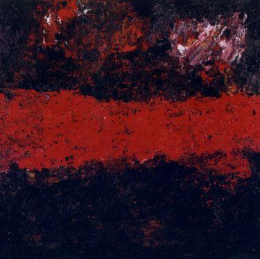 Armando Horizont 19-3-01 150 x 150 cm olie op doek