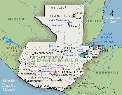 Guatemalan Map Guatemala Pinterest Central America Antigua - Guatemala map