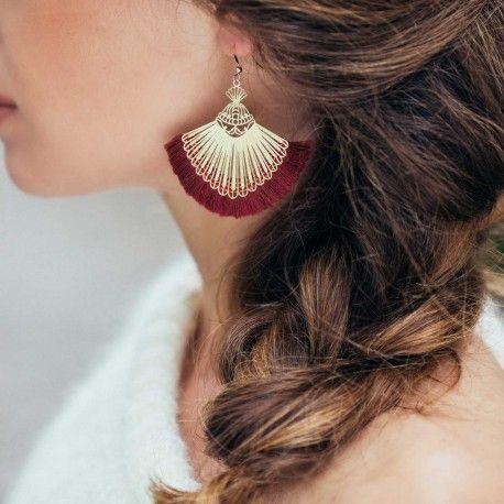 Boucles d'oreilles Osiris – boucles d'oreilles doré Séraphine Bijoux -…