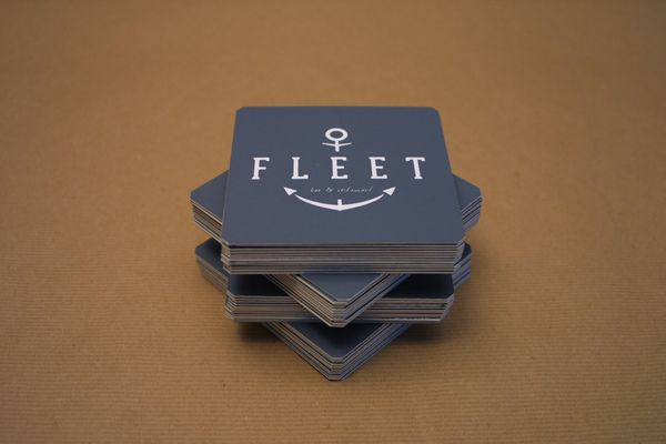 The Fleet - Beer Mats by Bayley Design, via Behance