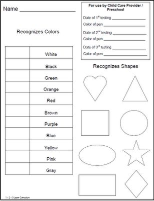 10 mejores imágenes sobre PreK milestones en Pinterest Escuela - free assessment forms