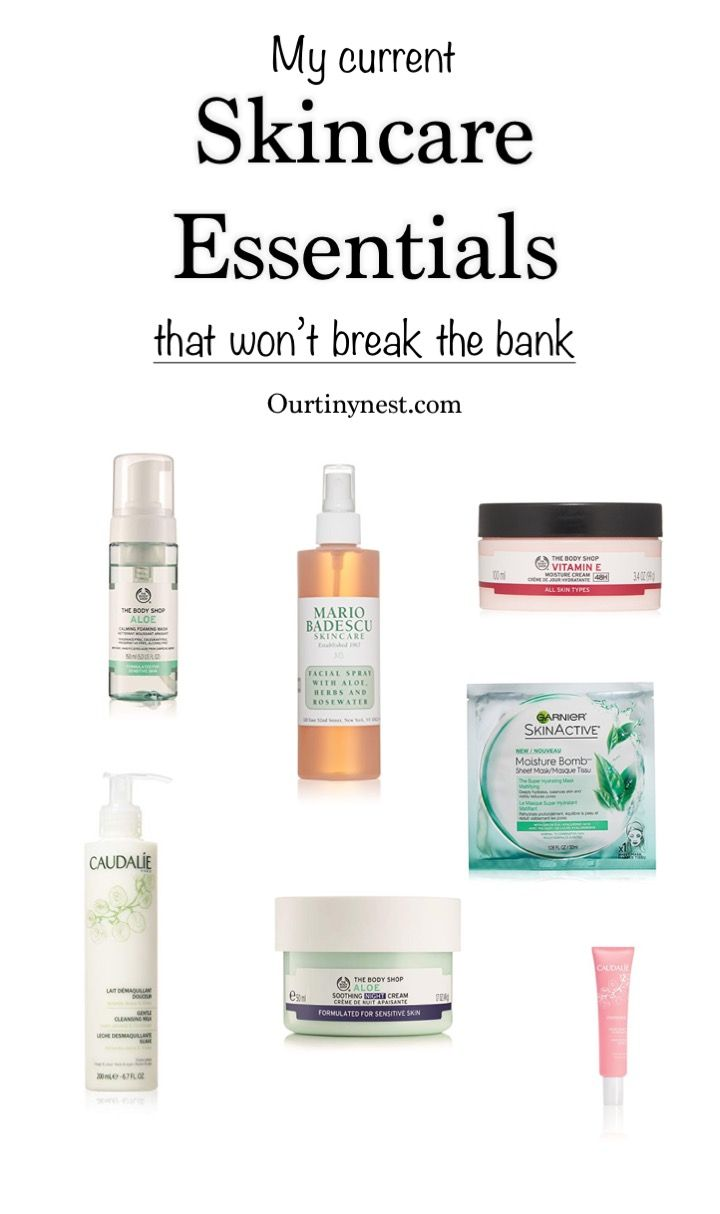 My Current Skin Care Essentials That Won T Break The Bank Skin Care Essentials Skin Care Anti Aging Skin Products