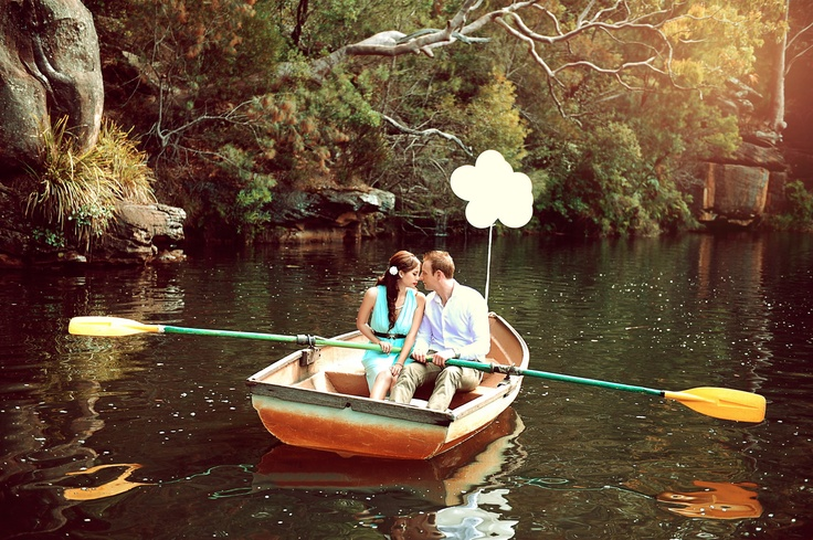 Love my pre wedding photoshoot. Rowboat