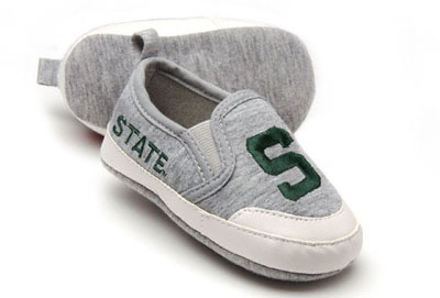 Michigan State Spartans Green Baby Prewalk Shoe.  GAHHHHH!!  WHERE WERE THESE WHEN I HAD BABIES??????