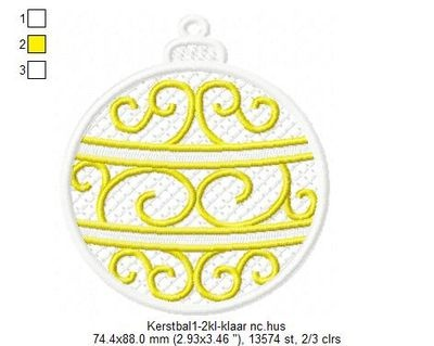 Embroidery Designs D Ornaments