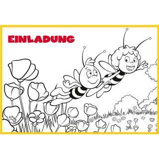 Tolle Einladungskarten Zum Selberausmalen Von Der Biene Maja Für Den Maja  Kindergeburtstag! Http:/