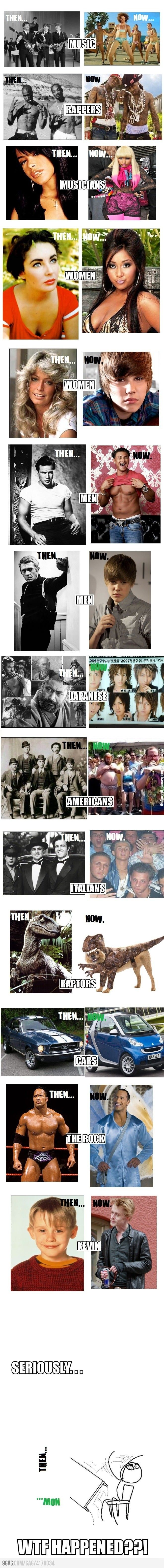 Then Vs Now,  Click the link to view today's funniest pictures! What happened??