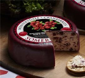 Wensleydale & Cranberries - The sweet natural acidity of #Wensleydale perfectly compliments fruit, especially #Cranberries. #EnglishCheese #Somerdale #Australia #lovecheese