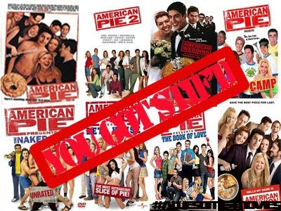 American Pie - 9 DVD collection  1. American Pie 1 (1999)  2. American Pie 2 (2001)  3. American Pie 3 (2003) The wedding  4. American Pie 4 (2005) Band Camp  5. American Pie 5 (2006) The naked Mile  6. American Pie 6 (2007) Betta House  7. American Pie 7 (2009) The book of Love  8. American Pie 8 (2010) Hole in one  9. American Pie (2011) The reunion