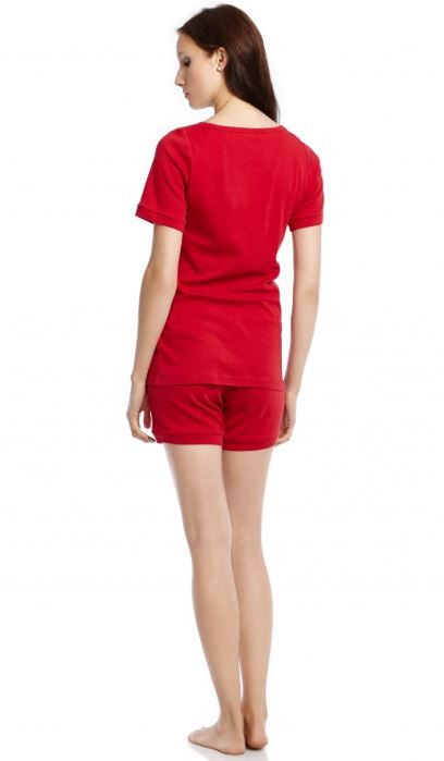 Leveret Womens Cotton Fitted Shorts Red Pajama Set 5fc565ac4