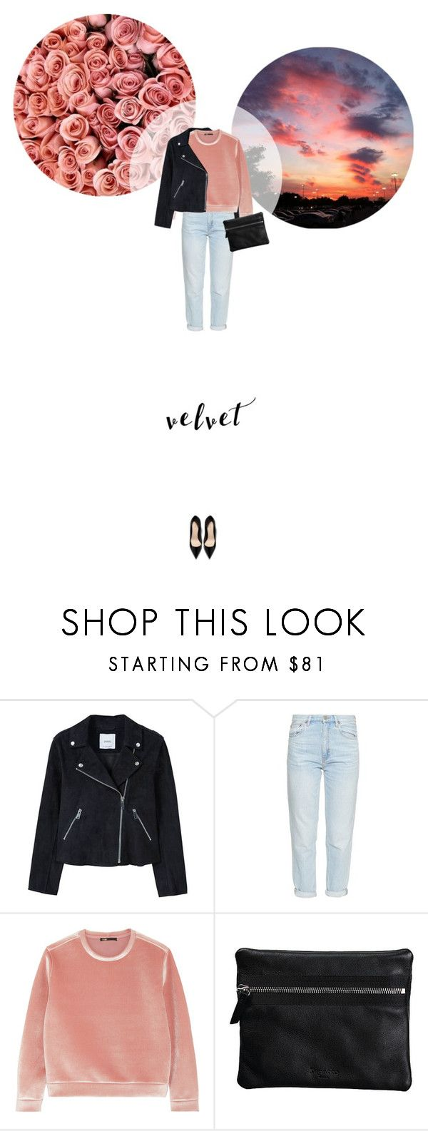 // 1328. Crushing on Velvet. by lilymcenvy on Polyvore featuring Maje, MANGO, M.i.h Jeans, Repetto, B. Ella, Gucci and velvet