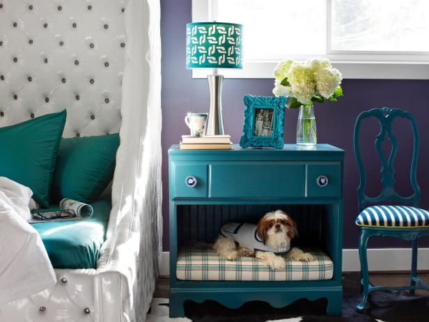 DIY Network has instructions on how to turn an old dresser into stylish storage and a sleeping space for pets.