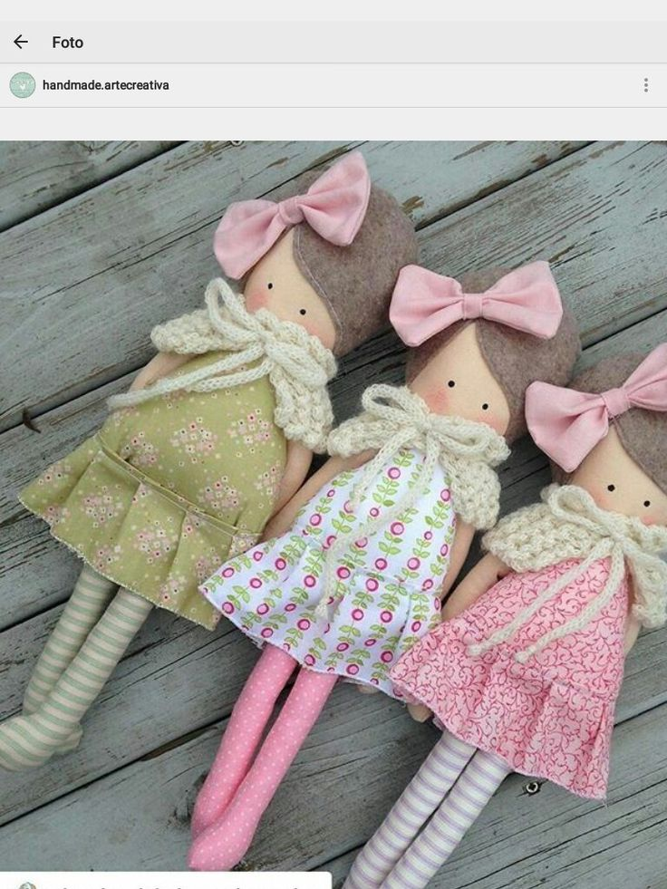 Cute Caped Rag Dolls