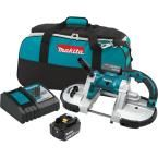 Makita 18-Volt LXT 5.0Ah Lithium-Ion Cordless Portable Band Saw Kit