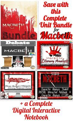 177 best hmh grades 9 12 inspiration images on pinterest the best of teacher entrepreneurs iii macbeth unit bundle five complete units for one fandeluxe Images
