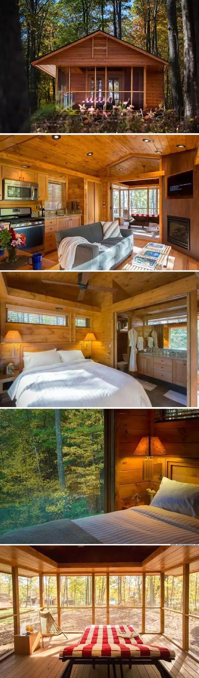 A cozy 392 sq ft cabin in upstate NY